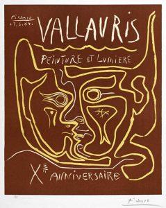 Pablo Picasso Linocut, Vallauris Peinture et Lumière, Xᵉ Anniversaire (Vallauris Painting and Light, Tenth Anniversary), 1964