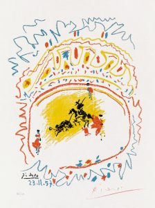 Pablo Picasso Lithograph, La Petite Corrida (The Little Bullfight), 1957