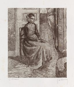 Camille Pissarro Lithograph, Petite Bonne Flamande (Good Little Flemish Girl), c. 1900