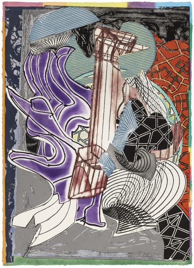 Frank Stella Lithograph, The Fossil Whale (Dome), from Moby Dick Domes, 1992