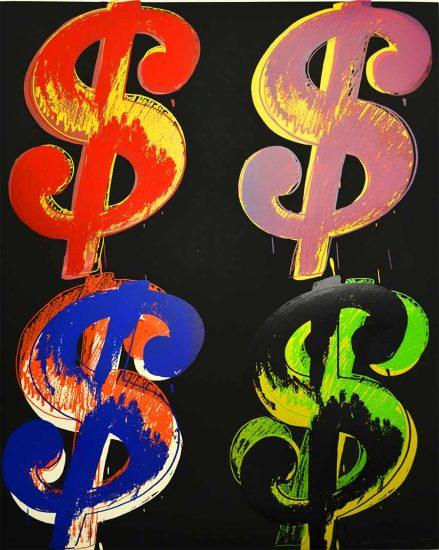 Andy Warhol Screen Print, $ (4), 1982