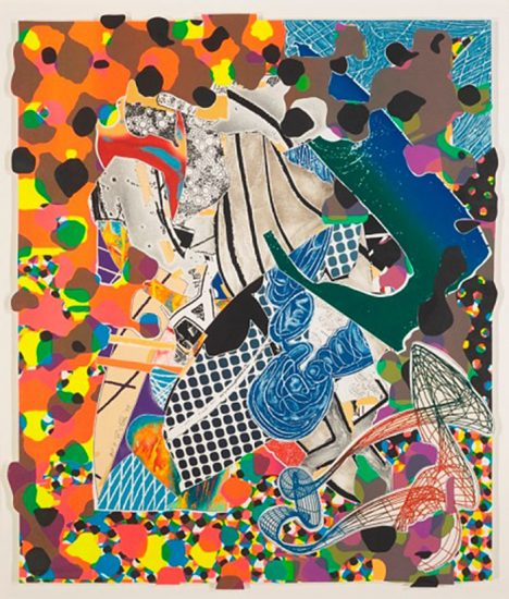 Frank Stella Mixed, A Bower in the Arsacides, from the Moby Dick Deckle Edges Series, 1993