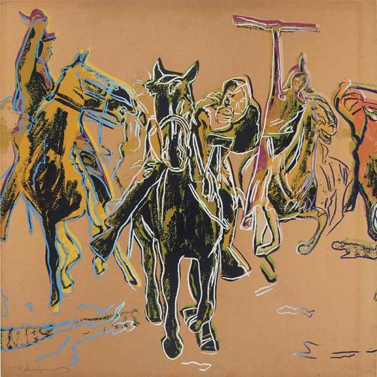 Andy Warhol Silkscreen, Action Picture, from the Cowboys and Indians Series, 1986