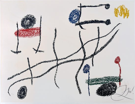 Joan Miró Lithograph, Album 21, Plate 16, 1978