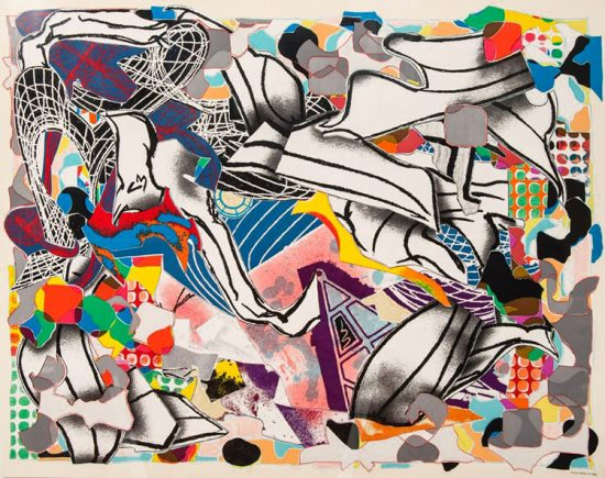 Frank Stella Lithograph, Ambergris, from the Moby Dick Deckle Edges Series, 1993