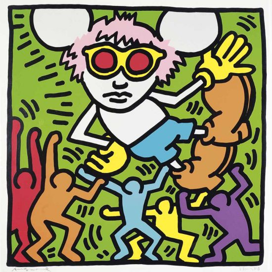 Keith Haring Lithograph, Andy Mouse (Plate 2), from the Andy Mouse Series, 1986