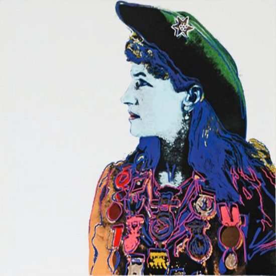 Andy Warhol Screen Print, Annie Oakley, from the Cowboys and Indians Series, 1986