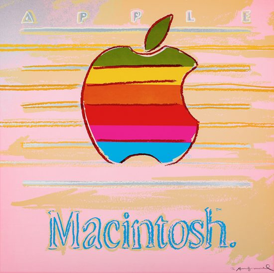 Andy Warhol Screen Print, Apple, 1985 from Ads Series