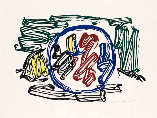 Roy Lichtenstein Lithograph, Apple and Lemon, 1983