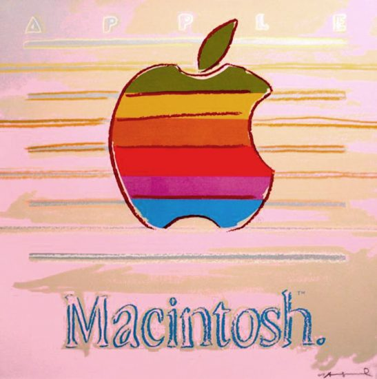 Andy Warhol Screen Print, Apple, from the Ads Portfolio, 1985