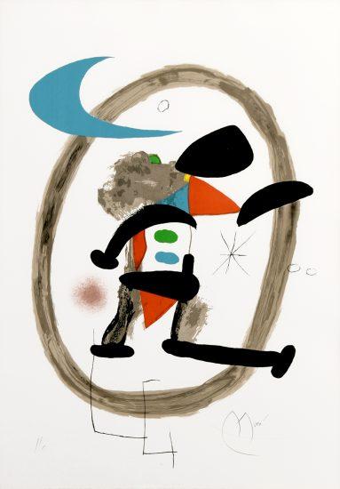 Joan Miró Lithograph, Arlequin Circonscrit, 1973