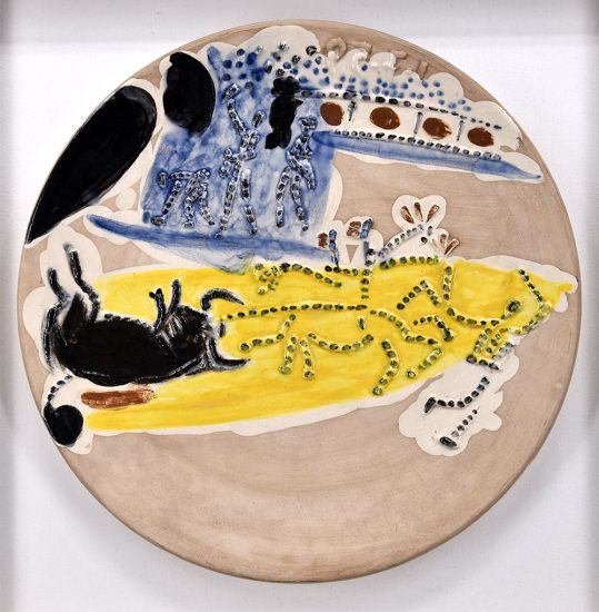 Pablo Picasso Ceramic, Arrastro, from Service Scènes de Corrida, 1959 A.R. 423