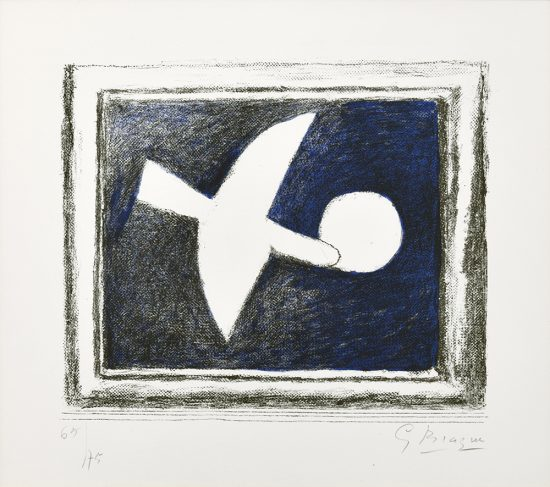Georges Braque Lithograph, Astre et Oiseau (Star and Bird) I, 1958-59