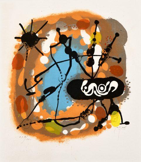 Joan Miró Lithograph, Atmosfera, 1959