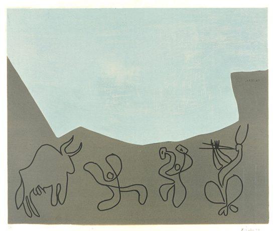 Pablo Picasso Linocut, Bacchanale, 1959