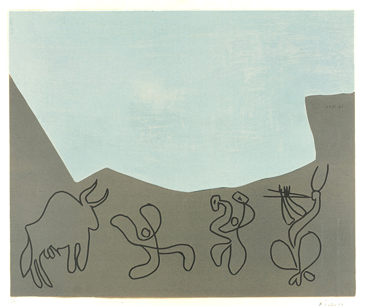 Pablo Picasso linocut bacchanale 1959 for sale (image 1)
