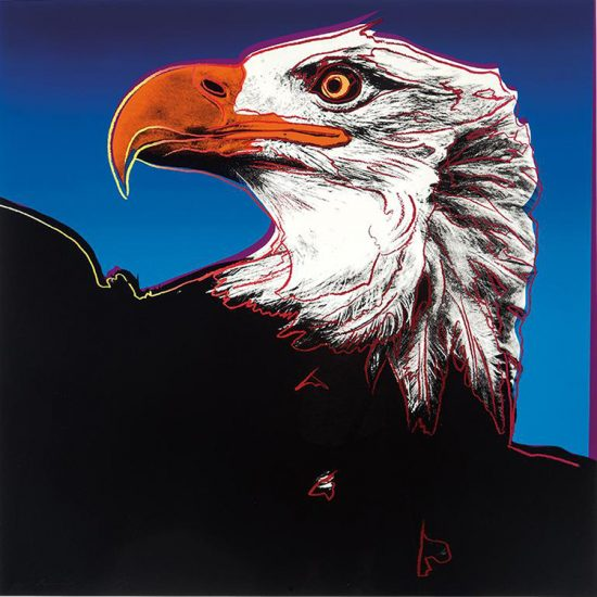 Andy Warhol Screen Print, Bald Eagle from the Endangered Species Series, 1983