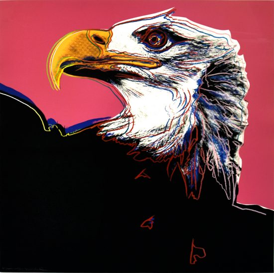 Andy Warhol Lithograph, Bald Eagle, from the Endangered Species, Unique Trial Proof