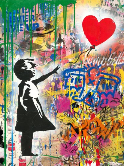 Mr. Brainwash Silkscreen, Balloon Girl, 2019
