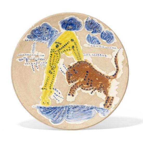 Pablo Picasso Ceramic, Banderilleros, from Service Scènes de Corrida (Set of 7 plates), 1959