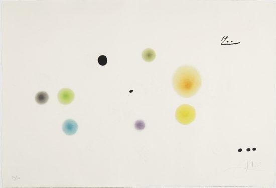 Joan Miró Etching, Barcelona, 1972-1973