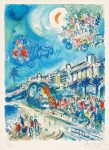 Marc Chagall Lithograph, Bataille de Fleurs (Carnaval of Flowers) from Nice and the Côte d'Azur, 1967