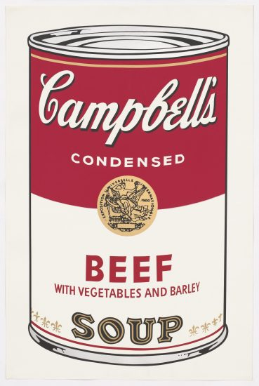 Andy Warhol Screen Print, Beef Soup, Campbell's Soup I