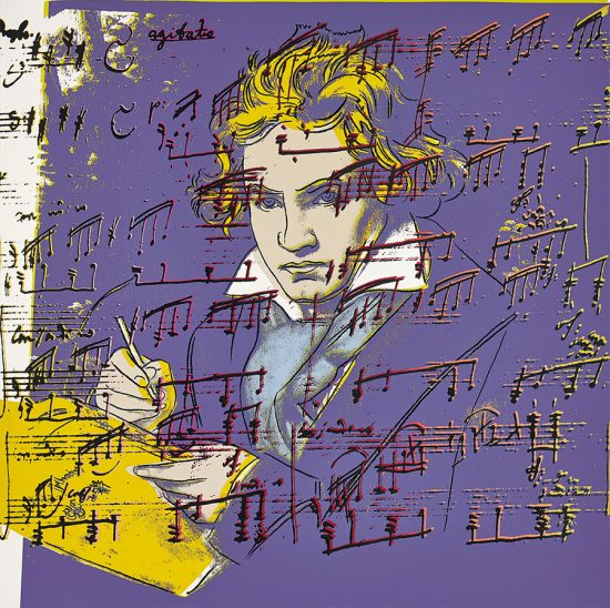 Andy Warhol Screen Print, Beethoven, 1987 Unique Color Trial Proof