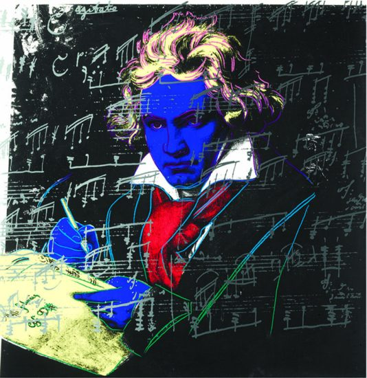 Andy Warhol Lithograph, Beethoven, 1987 FS II.390
