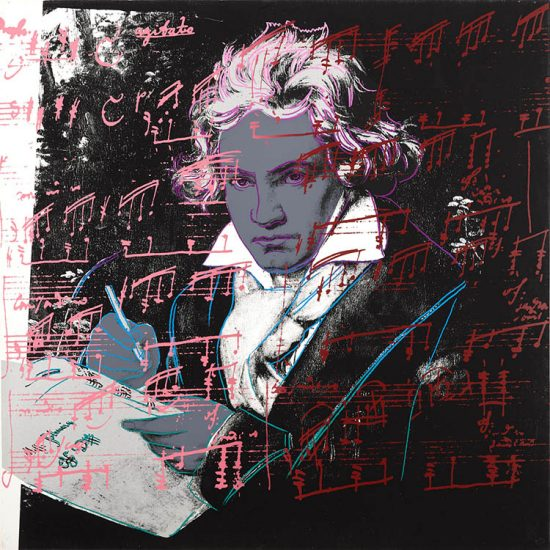 Andy Warhol Lithograph, Beethoven, 1987 FS II.391