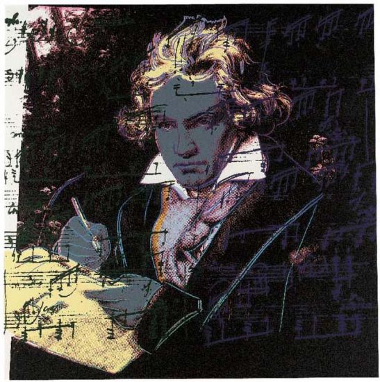 Andy Warhol Lithograph, Beethoven, 1987 FS II.393
