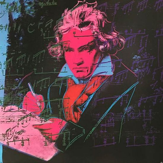 Andy Warhol Screen Print, Beethoven, 1987