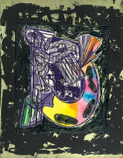 Frank Stella Lithograph, Bene come il sale, State I, from the Italian Folktales Series, 1989