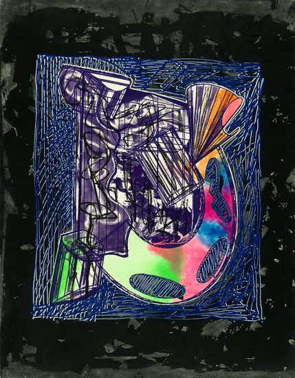 Frank Stella Etching, Bene come il sale, State IV, from the Italian Folktales Series, 1989