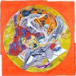 Frank Stella Acrylic, Untitled, 1995