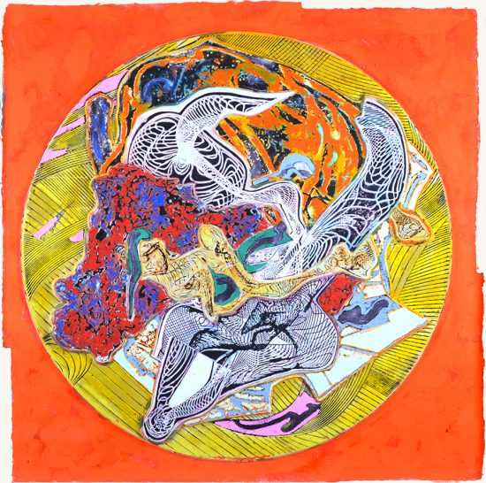 Frank Stella Lithograph, Untitled, 1995