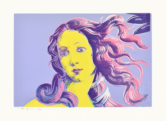 Andy Warhol Screen Print, Birth of Venus from Details of Renaissance Paintings, 1984 Unique Trial Proof
