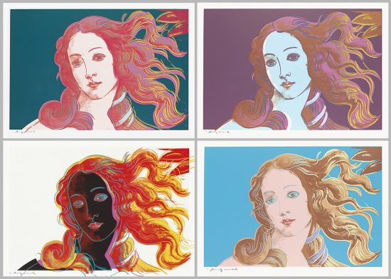 Andy Warhol Screen Print, Birth of Venus, from the Details of Renaissance Paintings, 1984