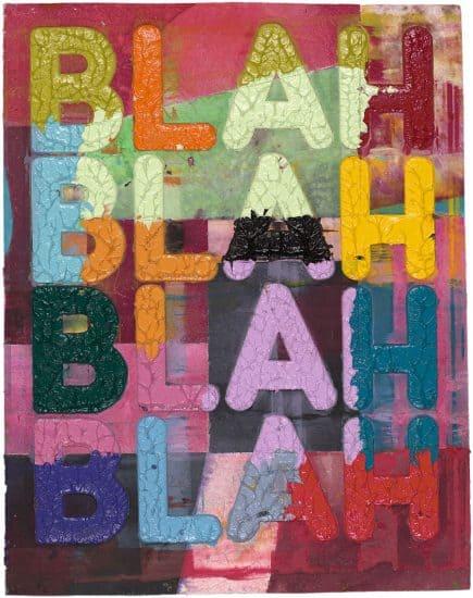 Mel Bochner Lithograph, Blah, Blah, Blah, 2018