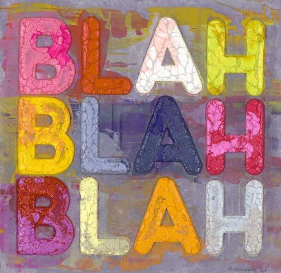 Mel Bochner Lithograph, Blah, Blah, Blah, 2021