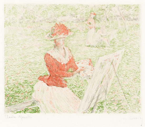 Claude Monet Lithograph, Blanche Painting, c. 1892-3