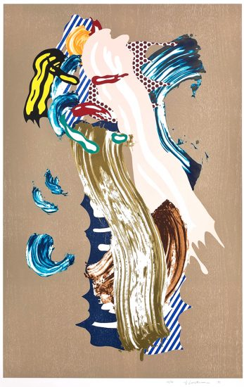 Roy Lichtenstein Lithograph, Blonde, from Brushstroke Figures Series, 1989