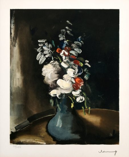 Maurice de Vlaminck Lithograph, Bouquet de fleurs (Bouquet of Flowers),1955