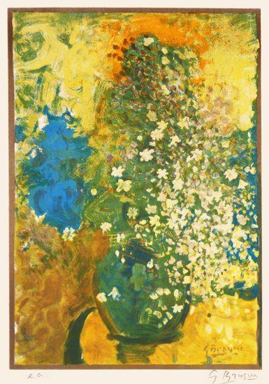 Georges Braque Lithograph, Bouquet Jaune (Yellow Bouquet), c. 1950s