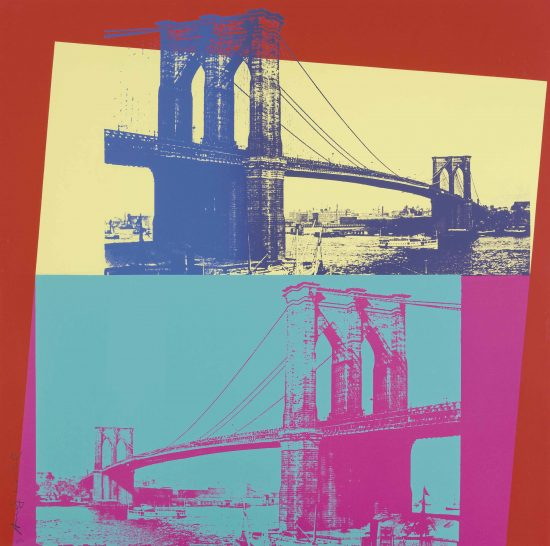 Andy Warhol Screen Print, Brooklyn Bridge, 1983