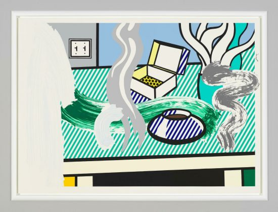 Roy Lichtenstein Screen Print, Brushstroke Still Life with Box, 1997
