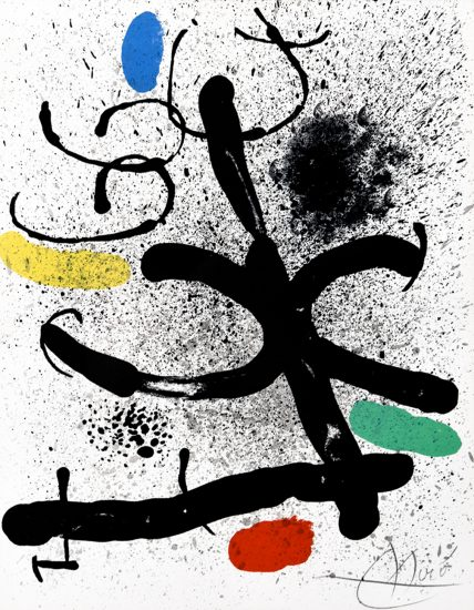 Joan Miró Lithograph, Cahier d'ombres (Book of Shadows), 1971