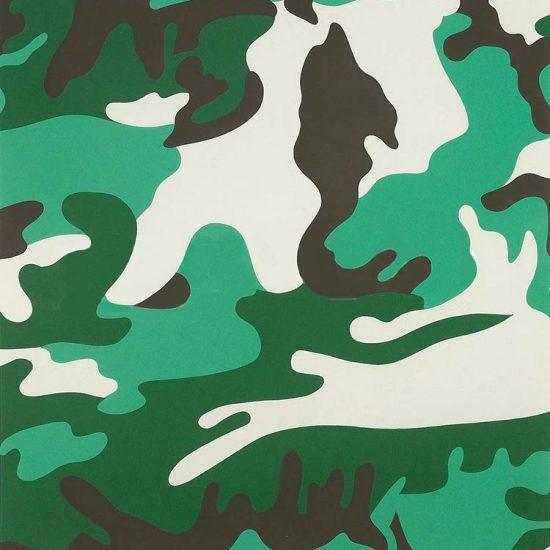 Andy Warhol Screen Print, Camouflage, 1987 FS II.406