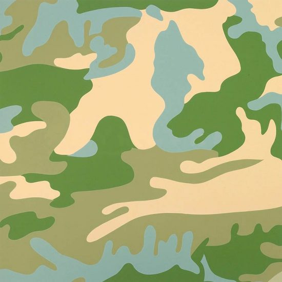 Andy Warhol Screen Print, Camouflage, 1987 FS II.407