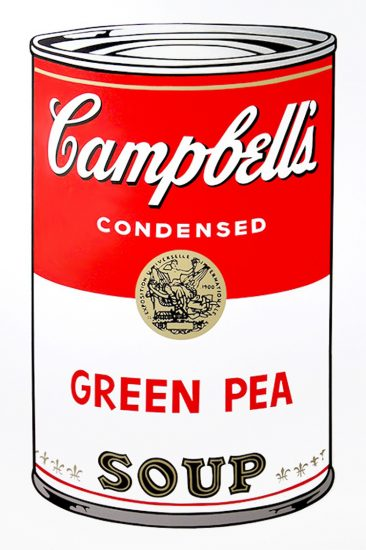 Andy Warhol Screen Print, Green Pea, Campbell's Soup I, 1968